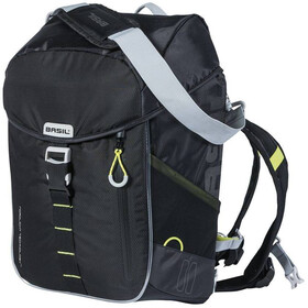 Basil Miles Nordlicht Bicycle Backpack 17l, black lime